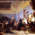 Alexandre-Evariste Fragonard (1780-1850) Boissy d'Anglas saluant la tête du député Féraud, 1831